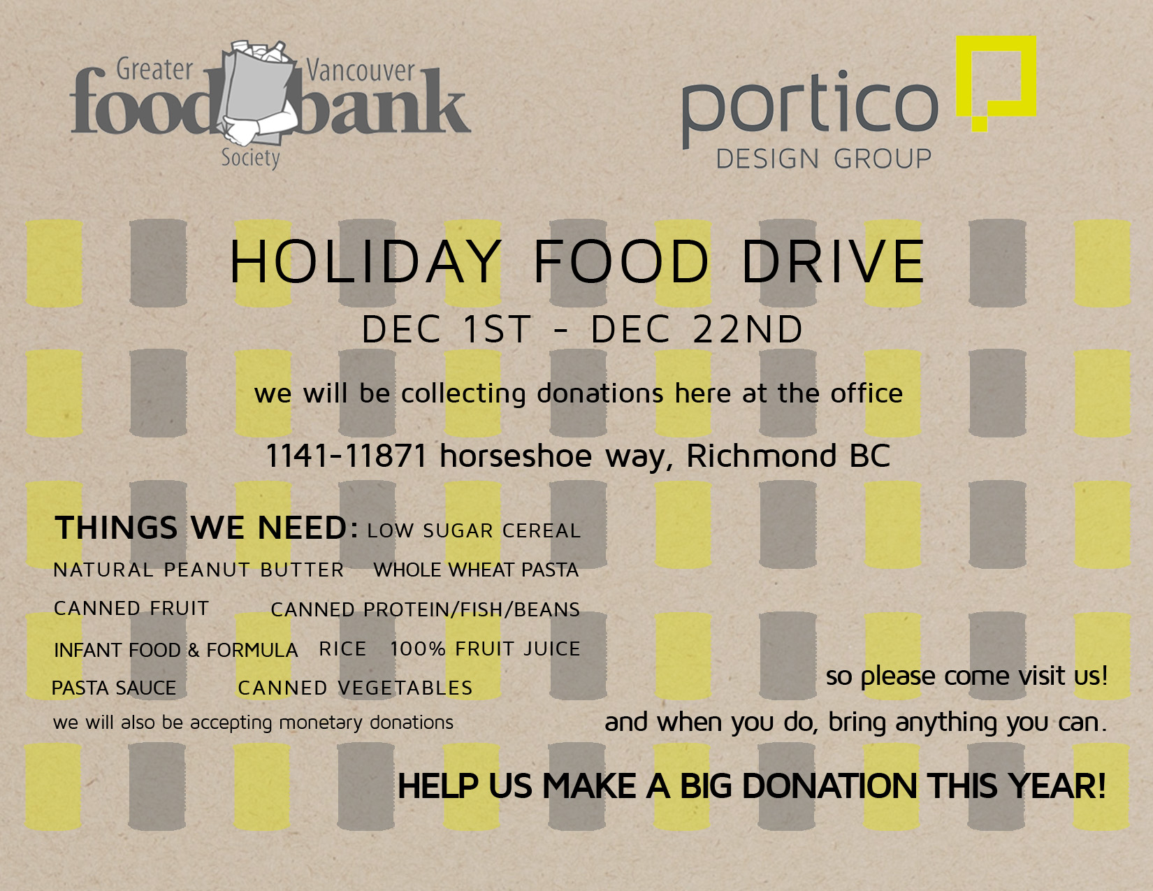 food drive flyer 2014